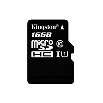 金士顿(Kingston)16GB UHS-I Class10 TF(Micro SD)高速存储卡 读速80MB/s